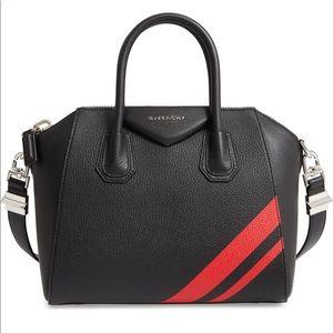 Brand new Small Antigona striped Learher satchel